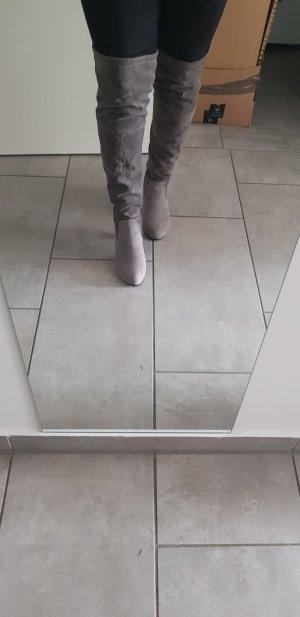 Overknee stiefel grau