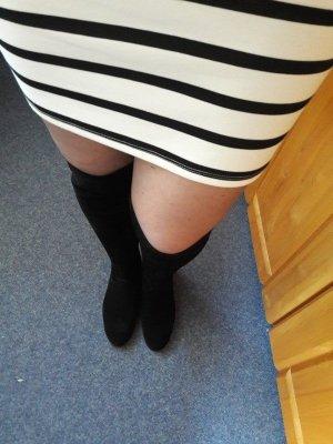 Overknee Stiefel Größe 39 Lederstiefel NEU Vero Moda Overkneestiefel mit Zierschnallen