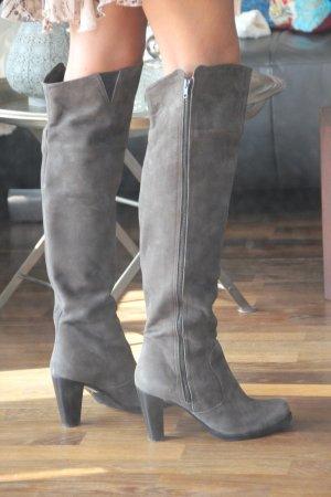 Overknee, Stiefel, High Heel Stiefel, Reißverschluss, Overkneestiefel