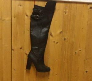 Overknee Stiefel in schwarz, Größe 37