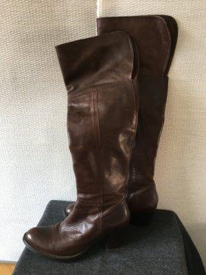 Overknee Stiefel Leder innen und außen. Gute Lederqualität. Braun