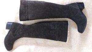 Overknee Stiefel mit Schurwollumschlag