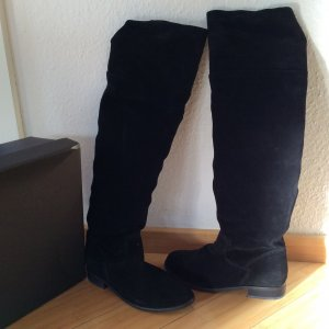 Overknee Stiefel neu in schwarz Veloursleder
