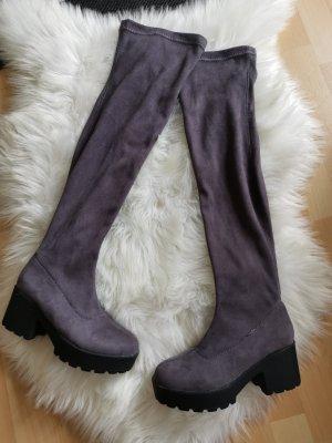 Overknees grey