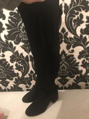 Overknee Stiefel schwarz