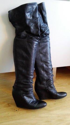 Cuissarde noir cuir