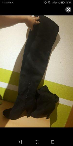 Overknee Stiefel schwarz Gr 39