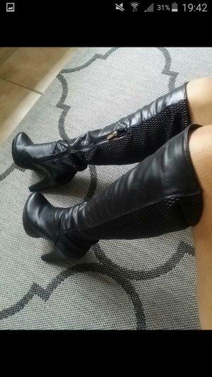Overknee Stiefel schwarz Größe 38 wie neu