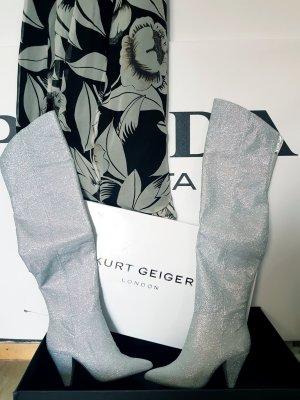 Kurt Geiger Kniehoge laarzen zilver Polyester