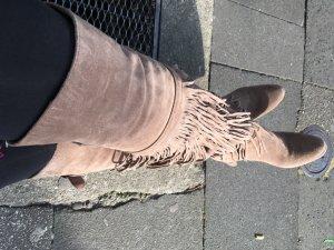 Overknee Stiefel Wildleder
