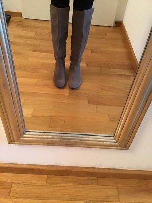 Taupage Overknees grey brown