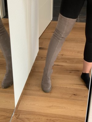 Zara Overknees grey brown