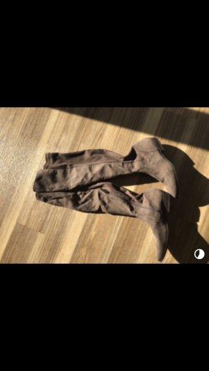 Tamaris Overknees brown