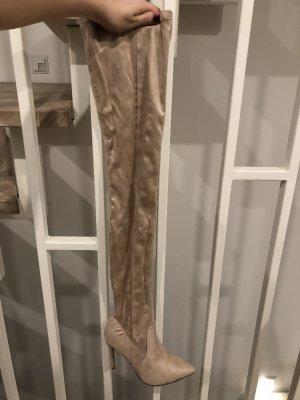Asos Kniehoge laarzen nude