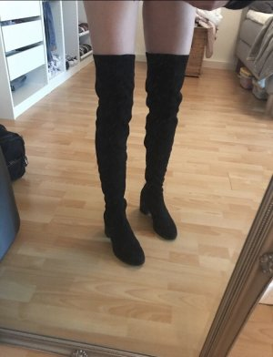 Deichmann Kniehoge laarzen zwart