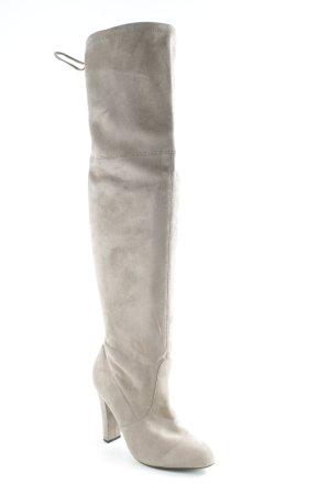Botas sobre la rodilla beige look Street-Style