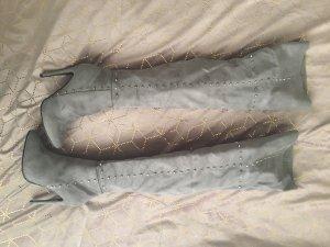 Stivale cuissard argento