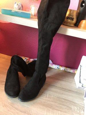 Kayla Kniehoge laarzen zwart