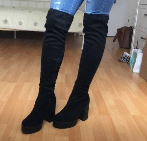 Catwalk Kniehoge laarzen zwart