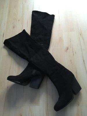 H&M Kniehoge laarzen zwart
