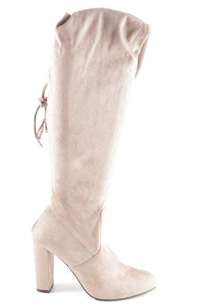 Overknees light brown elegant