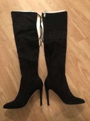 Overknees / High Heel Stiefeletten, Größe 38
