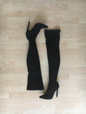 Overknees: High Heels, schwarz, Stretch, Zara, wie neu