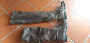 Kniehoge laarzen grijs-bruin