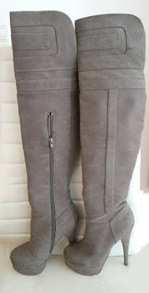 JustFab Overknees grey