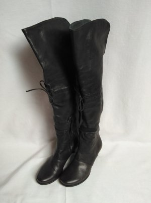 Air Step Overknees anthracite leather