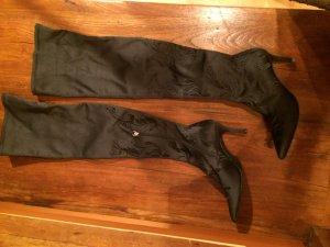 Zara Overknees black textile fiber