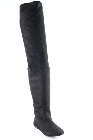 Botas sobre la rodilla negro look casual