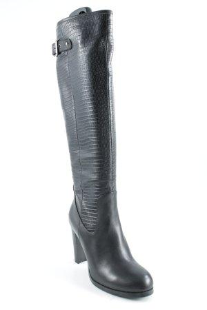 Overknees black elegant