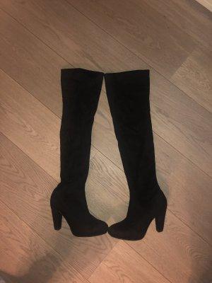 Anna Field Kniehoge laarzen zwart