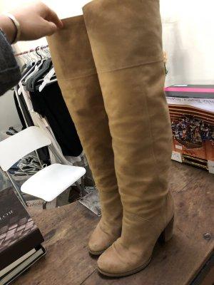 Overknees Stiefel in schönem beige