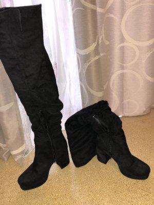Overknees Stiefel mit Absatz