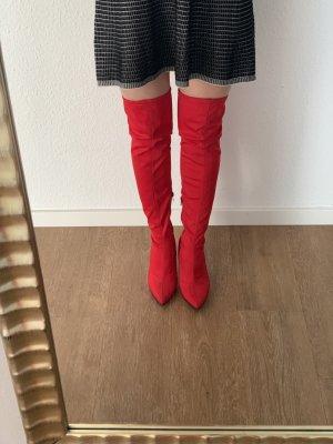 Sacha Kniehoge laarzen rood