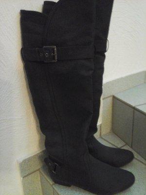 Overknees-Stiefel schwarz