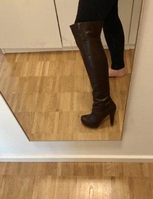 Apart Botas sobre la rodilla marrón oscuro