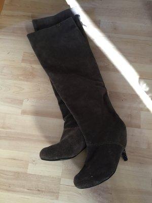 Feud london Kniehoge laarzen grijs-bruin