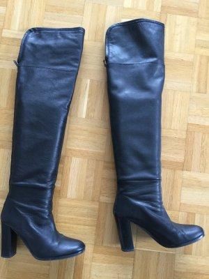Zara Woman Overknees black leather