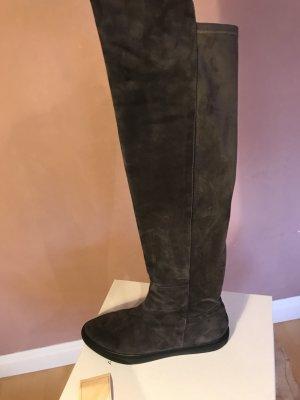Angelo Bervicato Kniehoge laarzen grijs-zwart