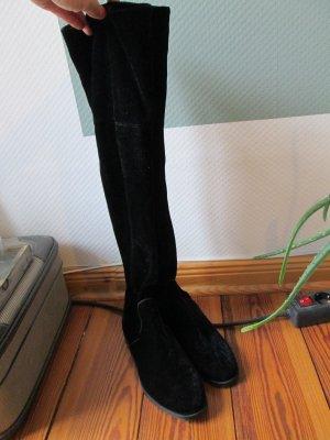 Bershka Botas sobre la rodilla negro