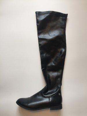 Cuissarde noir faux cuir