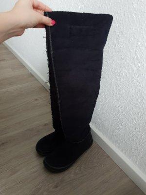 Replay Kniehoge laarzen zwart-grijs