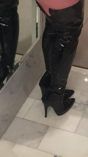 Overknie Lack Stiefel