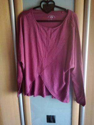Top extra-large violet tissu mixte