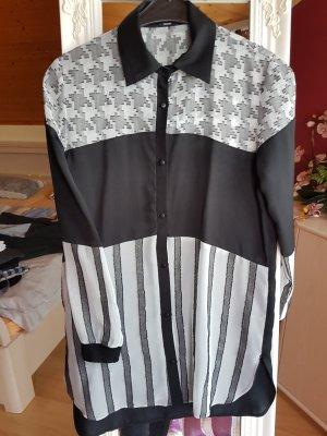 oversited Blue Hemd schwarz weiß Streifen Tezenis S