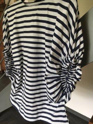 Oversize Baumwoll Bluse Top Zara S neu maritim