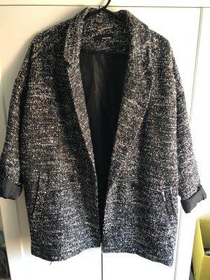 Oversized jack zwart-grijs